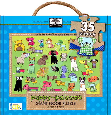 green start giant floor puzzles: puppy-palooza