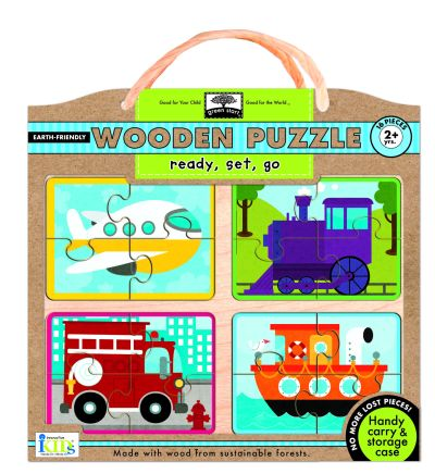 green start wooden puzzles: ready, set, go picture