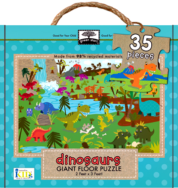 green start™ giant floor puzzles: dinosaurs picture