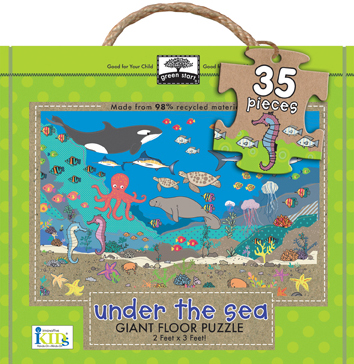 green start giant floor puzzles: under the sea picture