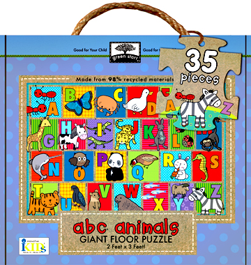 green start giant floor puzzles: abc animals picture