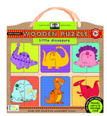 green start wooden puzzles: little dinosaurs