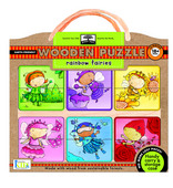 green start&#8482; wooden puzzles: rainbow fairies