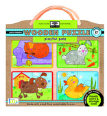 green start&#8482; wooden puzzles: playful pals