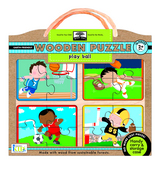 green start wooden puzzles: play ball