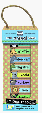 green start book towers: little animal books