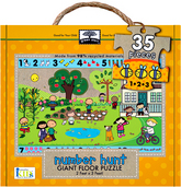 green start giant floor puzzles: number hunt
