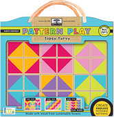 green start pattern play wooden puzzles topsy turvy