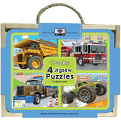 green start jigsaw puzzle box set trucks