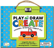 green start play, draw, create: trucks