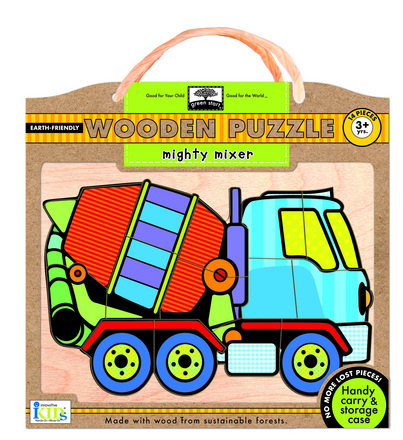 green start wooden puzzles: mighty mixer picture