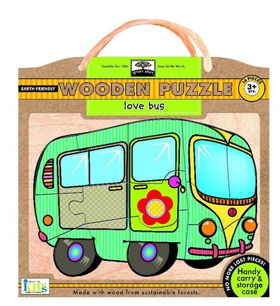 green start  wooden puzzles: love bus picture