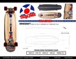 Drive Shaft Cruiser Complete w/60mm Eye Wheels and 129mm Darts additional picture 1