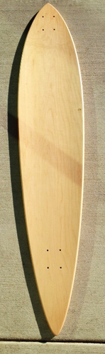 "BLEM Natural Pintail Longboard 46"" 9 ply picture"