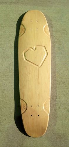 "Longboard cruiser 8.5 x 32.5"" Love Heart Design CNC picture"