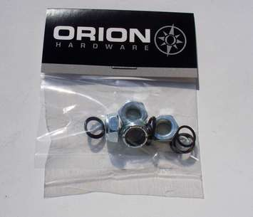 Orion axle lock nuts / pkg 4 & washers picture