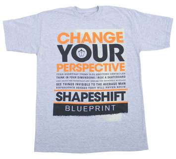 SHAPESHIFTER GREY/ORANGET-shirt picture