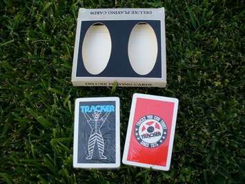 Tracker Playing cards 1986 picture