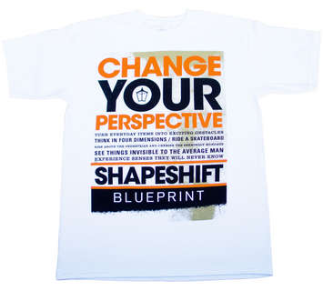 SHAPESHIFTER WHITE/ORANGE- T-shirt picture