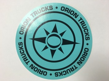 4.5″ Orion Circle Logo Sticker diamond blue picture