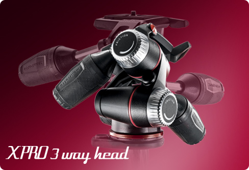 The Manfrotto 3-Way Tripod Head