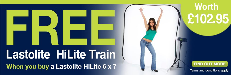 FREE Lastolite Hi-Lite Train when you buy a Lastolite Hi-Lite 6 x 7