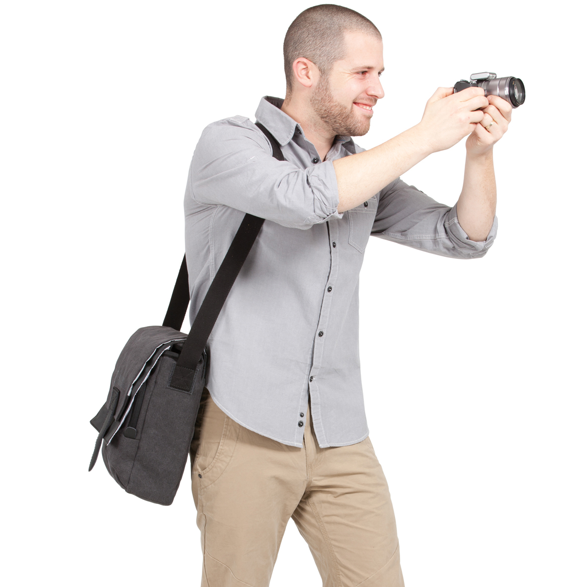 Slim Shoulder Bag For Mirrorless Camera Vs Ipad 98