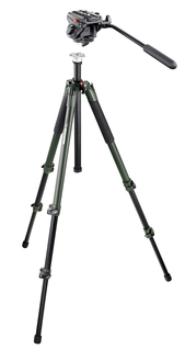 701HDV Pro Fluid Video Mini Head, 055 View Aluminum Tripod