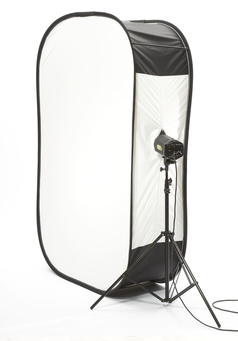 6' x 4' Megalite Softbox with full Silver Reflector on back