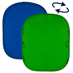 5'X6' Collapsible Chromakey - Reversible Blue/Green