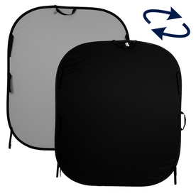 5'x6' Collapsible Black / Mid Grey