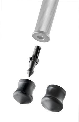 Short spike + rubber foot 30&38mm, 1pc