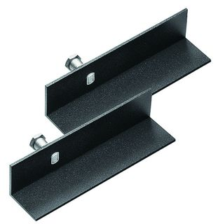 Mensola L-bracket nera (coppia)