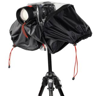 Copertura antipioggia per reflex + ob. 200 mm + flash