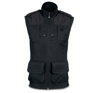 Lino Photo Vest-men-M/Blk