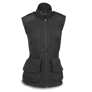 Lino Photo Vest-woman-S/Blk