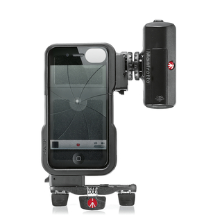 KLYP case for iPhone® 4/4S + ML120 LED light + POCKET tripod