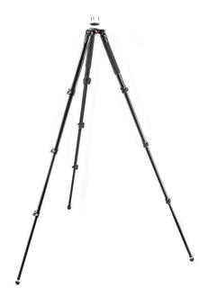 Aluminum Single Leg Video Tripod, 3 risers, 75-60mm ball