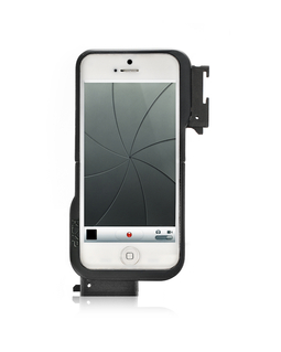 Custodia per Iphone5 con 2 adattatori per LED e supporto