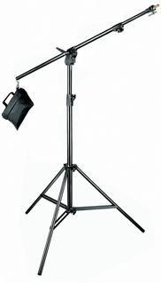 Black Aluminium Combi-Boom Stand with Sandbag