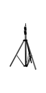 6' Basic Black Light Stand, 5/8'' Stud+015 Top
