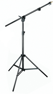 Black Combi-Boom Stand, 3-Section Stand without sand bag