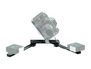 Macro Bracket Flash Support Black for 2 Shoe Mt. Flash Heads