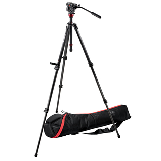 701HDV Pro Video Head+755CX3 Carbon Fiber Tripod+MBAG80