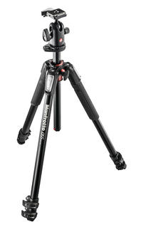 055 kit - alu 3-section horiz. column tripod + ball head