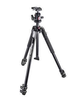 190X kit - alu 3-section tripod + 496RC2 ball head