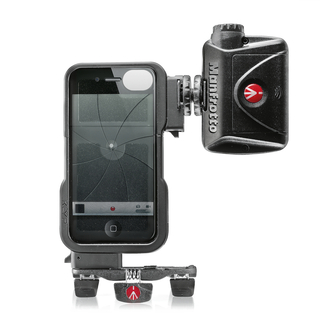 KIT COQUE KLYP IPHONE 4/4S & TORCHE 24 LED & TREPIED POCKET