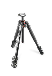 190 aluminium 4-section tripod, with horizontal column