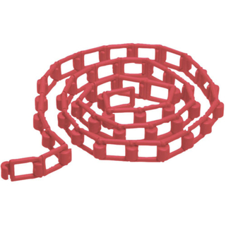 Red Plastic Chain for Expan, 118'' (Special Order)
