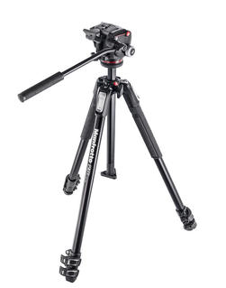 Kit serie 190 a 3 sezioni, con testa foto/video fluida
